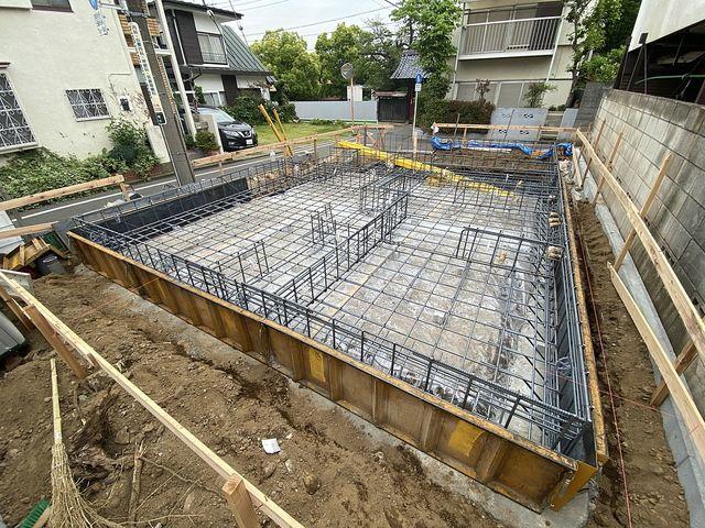 西東京市泉町2丁目新築住宅の基礎配筋の様子(5.7)スプラッシュ