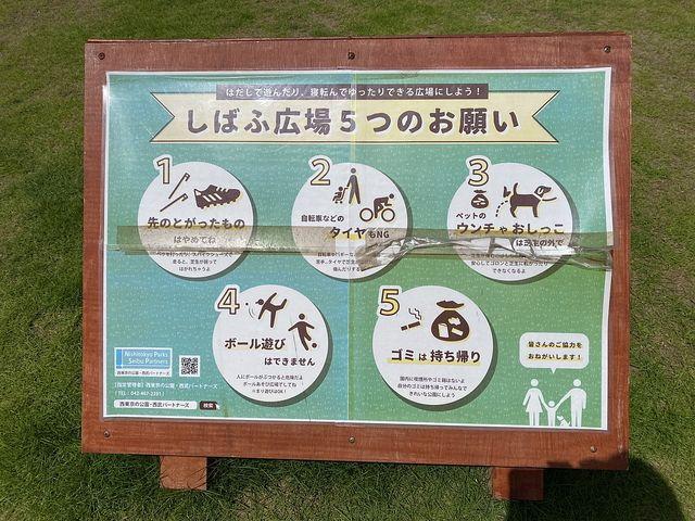 泉小わくわく公園のしばふ広場のおねがい(2021.6.3)スプラッシュ