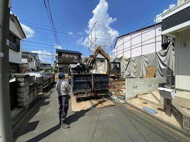 東久留米市八幡町は間もなく解体工事完了