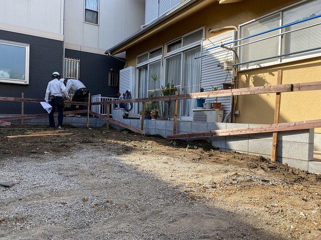 保谷町3丁目の新築一戸建て現場の遣り方の様子2(2021.10.8)スプラッシュ