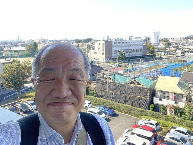 プロムナード東伏見82号棟から望んだ西東京市富士町3丁目新築3棟現場3(2021.10.8)スプラッシュ