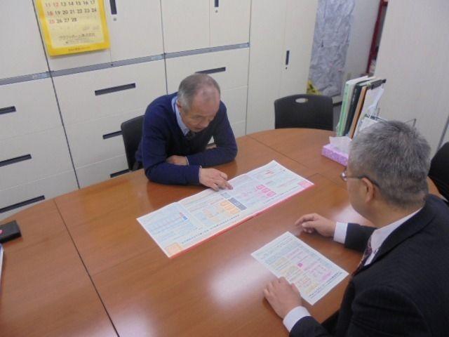 三菱東京UFJ銀行の新商品について説明を受けました