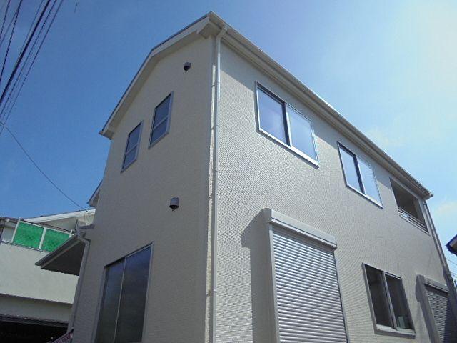 5月14日朝、保谷13分新築分譲住宅の外観