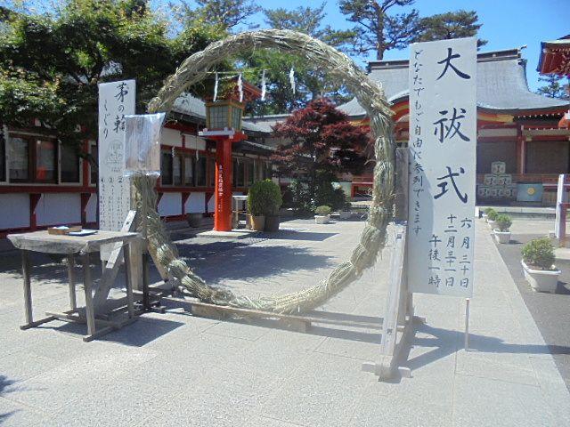 茅の輪くぐり1(東伏見稲荷神社)