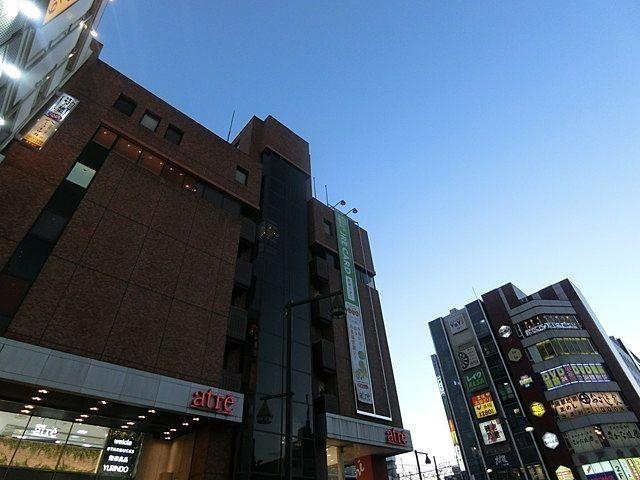 陽が暮れる亀戸駅ビル