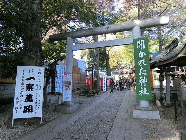 田無神社の参道