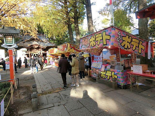 田無神社の露天