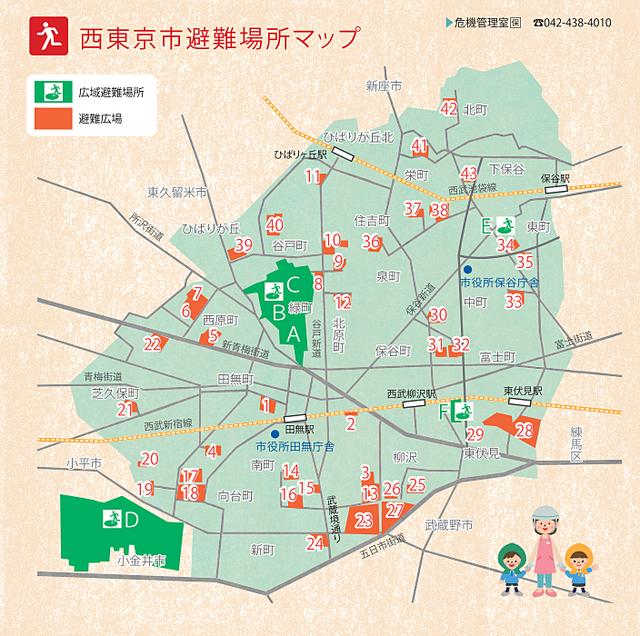 西東京市避難場所マップ スプラッシュ