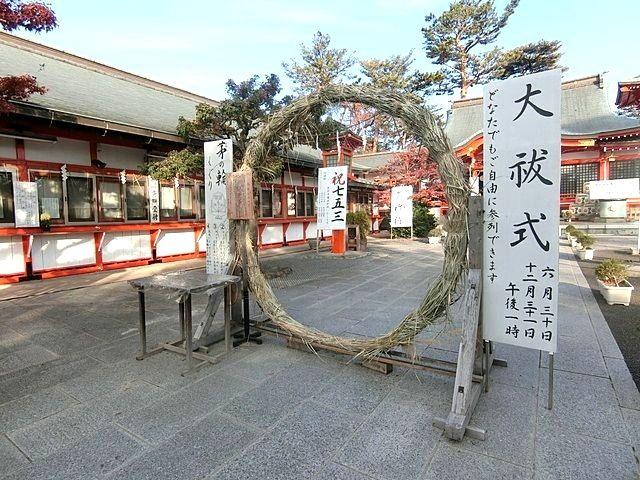 東伏見稲荷神社の茅の輪くぐり
