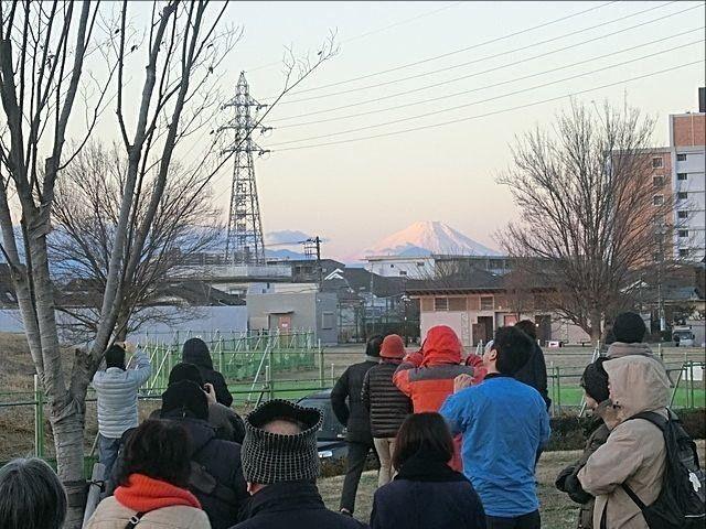 2019元旦に東伏見公園から見えた富士山