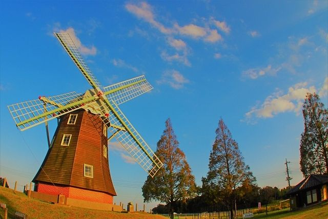 オランダをイメージする風車の画像です