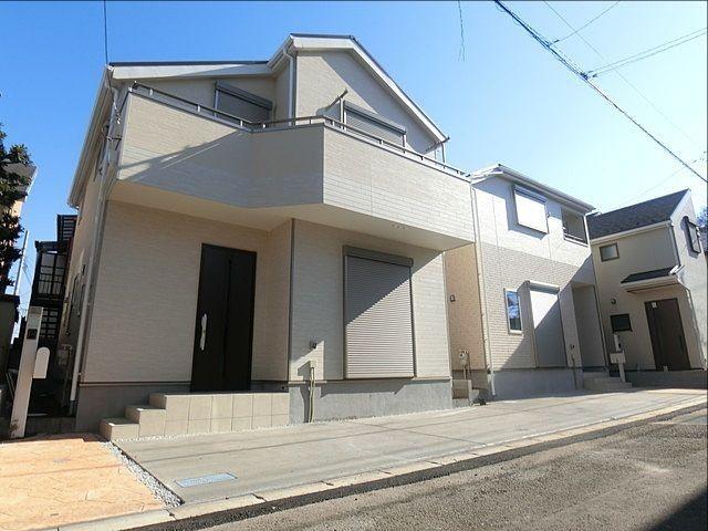 完成した西東京市下保谷3丁目の新築住宅の外観写真(1月20日)