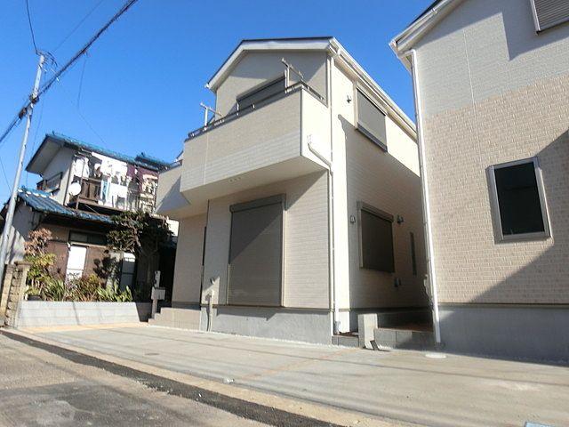 完成した西東京市下保谷3丁目の新築住宅1号棟の外観写真(1月20日)