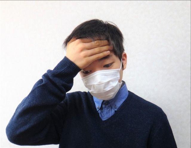 インフルエンザで発熱した中学生